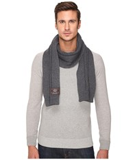 Ugg Ribbed Scarf Charcoal Grey Heather Scarves Gray