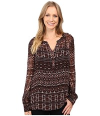 Sanctuary Romantic Billy Shirt Dark Autumn Folklore Women's Clothing Brown