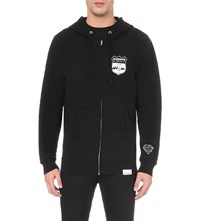 Diamond Supply Co. Game Patch Zip Cotton Jersey Hoodie Blk