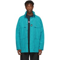 Balenciaga Blue Technical Faille Windbreaker Jacket
