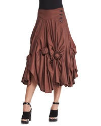 Creatures Of The Wind Rose Knotted Draped Drop Waist Skirt