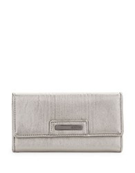 Kenneth Cole Reaction Never Let Go Trifold Flap Clutch Silver