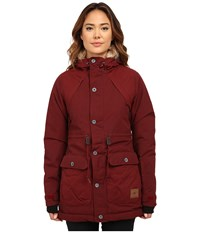 O'neill Glaze Jacket Cabernet Women's Coat Burgundy