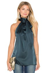 Ramy Brook Paige Tie Neck Tank Green