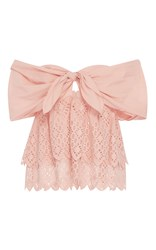 Sea Strapless Belle Top Pink