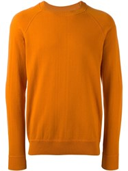 Ami Alexandre Mattiussi Raglan Sleeve Sweater Yellow Orange