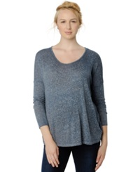 A Pea In The Pod Maternity Long Sleeve Burnout Tee
