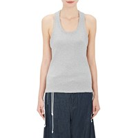 Tim Coppens Drawstring Hem Ribbed Tank Gray
