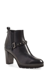 Anyi Lu 'Zayra' Moto Boot Women Black Calf Tumbled