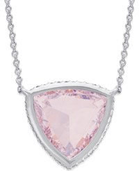 Eliot Danori Crystal Pendant Necklace Silver