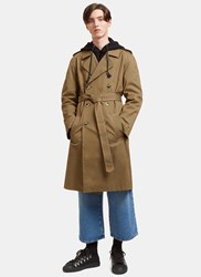 J.W.Anderson Rainbow Stitched Trench Coat Khaki