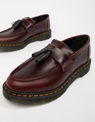 Dr. Martens Dr Adrian Tassel Loafers In Deep Red