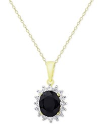 Victoria Townsend Sapphire 3 Ct. T.W. And White Topaz 5 8 Ct. T.W. Pendant Necklace In 18K Gold Plated Sterling Silver