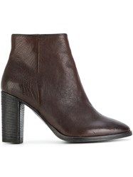 N.D.C. Made By Hand Zipped Ankle Boots Calf Leather Leather Rubber Brown