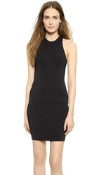 Alexander Wang Compact Knit Fitted Tank Black