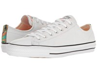 Converse Chuck Taylor All Star Pro Suede Backed Canvas Ox White Hyper Orange Black Men's Skate Shoes