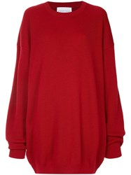 Strateas Carlucci Oversized Knit Sweater Red