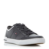 Tommy Hilfiger Harrington 5A Leather Trainers Navy