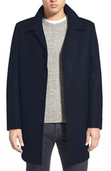 Men's Nordstrom Wool Blend Car Coat Navy
