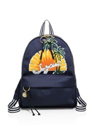 See By Chloe Andy Embroidered Satin Backpack Sunset