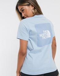 The North Face Box T Shirt In Blue