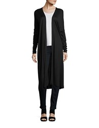 Bench Long Open Front Cardigan Jet Black