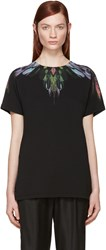 Marcelo Burlon Black Feather Print T Shirt