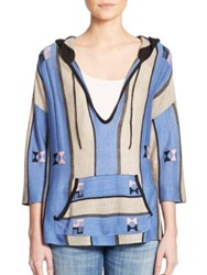 Twelfth St. By Cynthia Vincent Baja Embroidered Hooded Pullover Multi