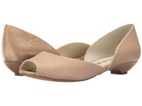 Anne Klein Farrah Ivory Leather Women's Shoes Gray
