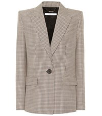 Givenchy Single Breasted Wool Blazer Beige