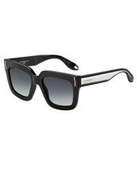 Givenchy Square Metal Band Sunglasses Black