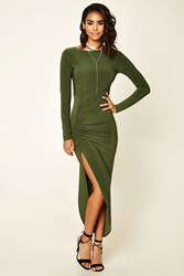 Forever 21 Asymmetrical Ruched Maxi Dress