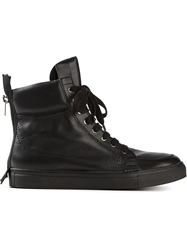 Kris Van Assche Stylised Hi Top Sneakers Black