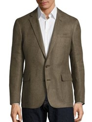 Ralph Lauren Regular Fit Linen Blazer Olive