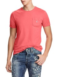 Ralph Lauren Polo Custom Fit Pocket T Shirt Hyannis Red