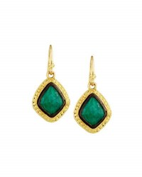 Armenta Old World 18K Malachite And Moonstone Kite Drop Earrings Green