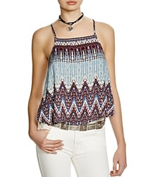 Free People Sundazed Camisole Top Sky Combo