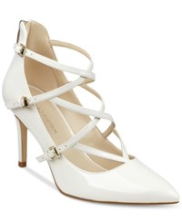 Marc Fisher Danger Strappy Pumps Women's Shoes Mf White