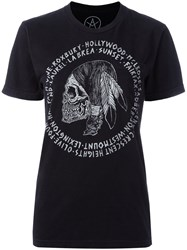 Local Authority Skull Print T Shirt Black
