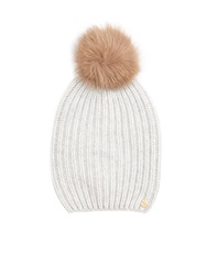 Woolrich Ribbed Knit Cashmere Beanie Hat