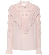 See By Chloe Embroidered Blouse Pink