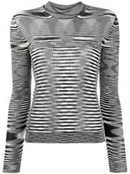 Missoni Striped Knit Sweater Black