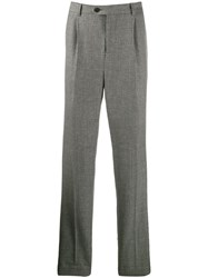 Brunello Cucinelli Checked Print Tailored Trousers Grey