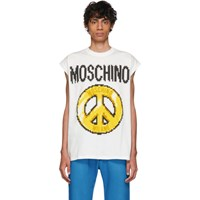 Moschino White The Sims Edition Pixel Peace Tank Top