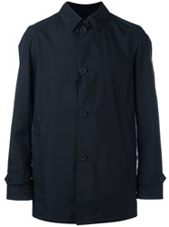Herno Classic Buttoned Coat Blue