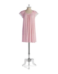 Miss Elaine Petite Lace Trimmed Nightgown Pink