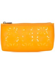 Coccinelle Laser Cut Pouch Yellow