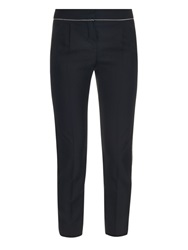 Balenciaga Chain Trimmed Cropped Trousers