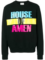 Amen House Of Print Sweatshirt Black