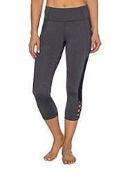 Betsey Johnson Bodycon Fit Cropped Leggings Charcoal